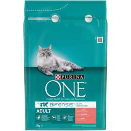 PURINA ONE Adult, Lachs & Vollkorn, 3 kg