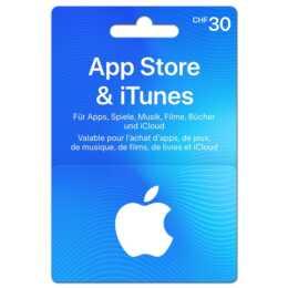 Geschenkkarte für App Store & iTunes über CHF 30