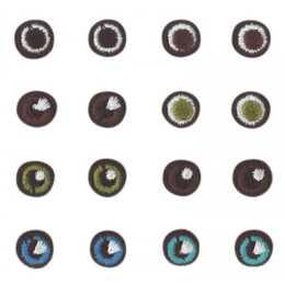 GLOREX Aufbügelbild Augen, 8 Paar