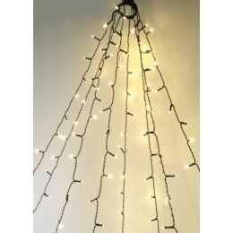 INTERTRONIC Catena luminosa per albero di Natale 160 LED