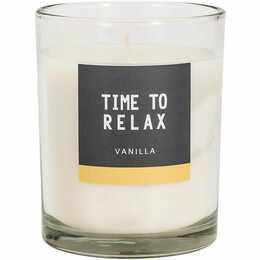 Time to Relax Duftkerze (Vanille, 1 Stück)