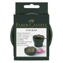 FABER-CASTELL Wasserbecher Clic & Go (Grün, Gold)