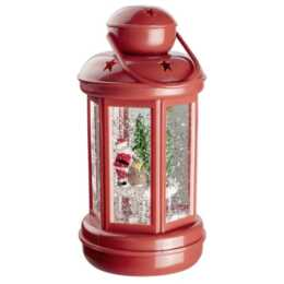 Lanterne rosse di Babbo Natale a LED d'acqua