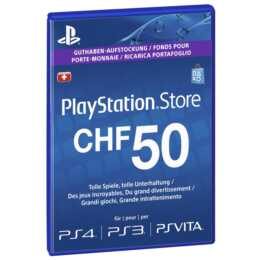 PSN Live-Card CHF 50 (PKC, IT, DE, FR)