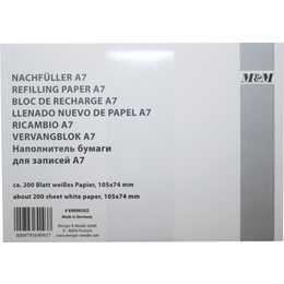 METZGER & MENDLE Carta sostitutiva (A7, 200 pezzo)