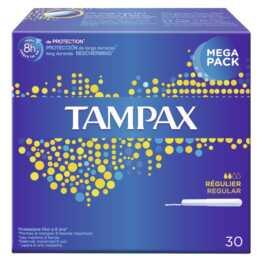 TAMPAX Regular Tampon (30 Pièce, Normal)