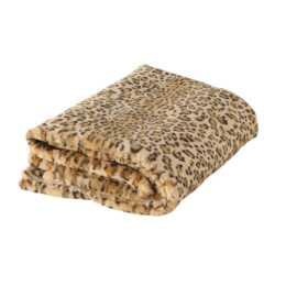 BOLTZE Tagesdecke Leopard (150 cm x 200 cm, Braun)