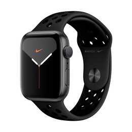 APPLE Watch Nike Series 5 GPS Space Grau/Anthrazit/Schwarz (44 mm, Aluminium, Silikon)