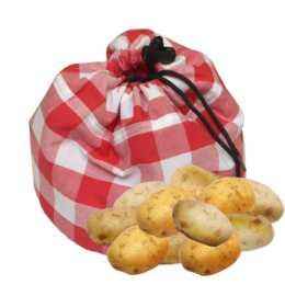 HEIDI CHEESE LINE Kartoffelsack Vichy Rot Weiss