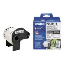 BROTHER DK-22212 Rouleau d'étiquettes, Thermo Direct, 62 mm x 15,24 m