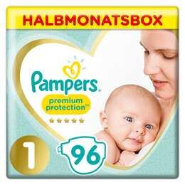 PAMPERS Couches pour nouveau-nés Premium Protection 1 (96 pièce)