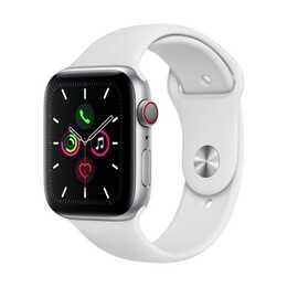 APPLE Watch Series 5 GPS + LTE Silber/Weiss (40 mm, Aluminium, Silikon)