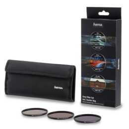 HAMA Graufilter-Set ND8, ND64, ND1000, 58 mm, mit Filtertasche