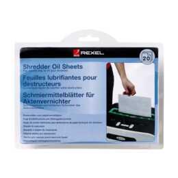 REXEL Schredder-Ölblätter für Aktenvernichter, 20 Stück