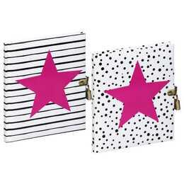 PAGNA Tagebuch Pink Star (Farbig assortiert)