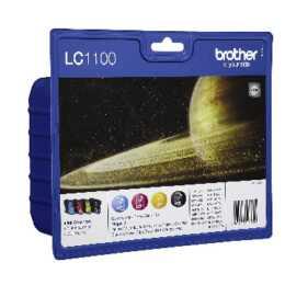 BROTHER  LC1100 (Schwarz, Gelb, Cyan, Magenta, 4 Stück)
