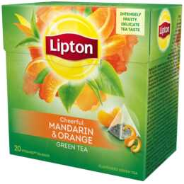 LIPTON Cheerful Mandarin & Orange Tè verde (Bustina di tè, 20 pezzo)