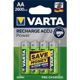 VARTA Batterie (Universel, AA / Mignon / LR6, 4 pièce)