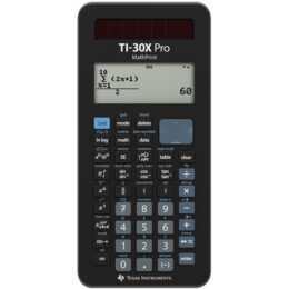 """TEXAS INSTRUMENTS TI-30X Calculatrice de poche """"D/F/I"""" (Fonctionement sur batterie standard, Cellules solaires)"""