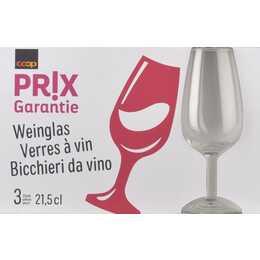 COOP PRIX GARANTIE Bicchiere da vino (21.5 cl, 3 pezzo)