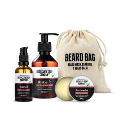 BROOKLYN SOAP COMPANY Huile à barbe Beard Bag (200 ml, 50 ml)