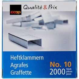 COOP QUALITÉ & PRIX Heftklammern No. 10 (2000 Stück)