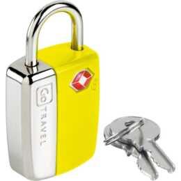 GO TRAVEL Yellow Gepäckschloss (Gelb)