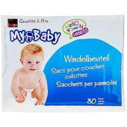 COOP MY BABY Windelbeutel (Weiss, 30 Stk)