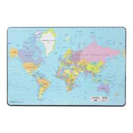 DURABLE Schreibunterlage 530 x 400 mm Weltkarte