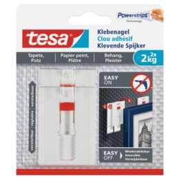 Clou adhésif TESA 2 kg pour papier peint + enduit, réglable