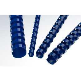 RENZ Plastikbinderücken (6 mm, Blau, 100 Stück)