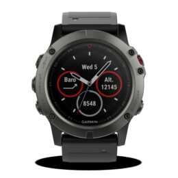 GARMIN Fenix 5X Saphir Grey (Einheitsgrösse, Edelstahl, Silikon, GPS, GLONASS)