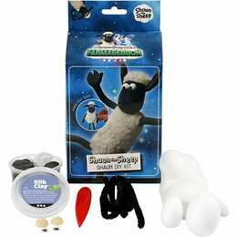 CREATIV COMPANY Modelliermasse Foam & Silk Clay Set Shaun the Sheep (Weiss, Schwarz)