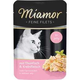 MIAMOR Feine Filets (Adulto, 100 g, Frutti di mare, Tonno)