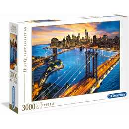 CLEMENTONI High Quality New York (3000 Stück, 2D Puzzle)