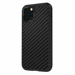 BLACK ROCK Backcover Robust Real Carbon (iPhone 11 Pro, Schwarz)