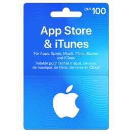 Geschenkkarte für App Store & iTunes über CHF 100