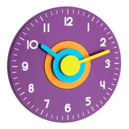 TFA POLO Analoge Wanduhr (230 mm, Violett)