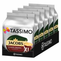 TASSIMO Kaffeekapseln Caffè Crema Classico XL Jacobs (5x 16 Stück)
