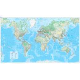 KÜMMMERLY + FREY Plano carte du monde 1:30'000'000'000