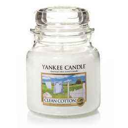 YANKEE CANDLE Clean Cotton Duftkerze (1 Stück)
