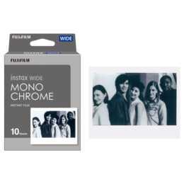 FUJIFILM Instax Wide Monochrome Sofortbildfilm (Instax Wide, 10x)