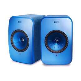 KEF AUDIO LSX (70 W, Regallautsprecher, Blau)