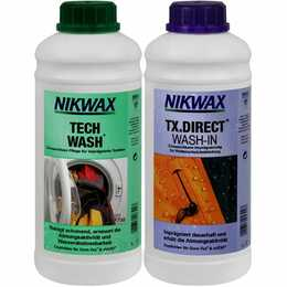 NIKWAX Detergente per macchine Set Tech Wash & TX.Direct Wash-In (1 l, Liquido)