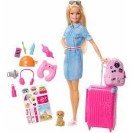 BARBIE Travel Barbie mit Zubehör