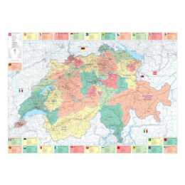KÜMMMERLY + FREY Office Plan de la Suisse 1:275'000