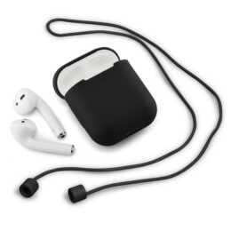 QDOS Pocketpod AirPods Tasche (Schwarz)