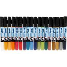 CREATIV COMPANY Marqueur permanent (Multicolore, 18 pièce)