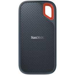 SANDISK Extreme Portable SSD (USB 3.1 Typ-C, 250 GB, Orange, Grau)