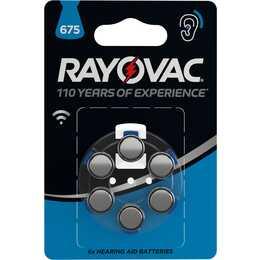 RAYOVAC 675 Batterie (Hörgeräte, PR44, 6 Stück)